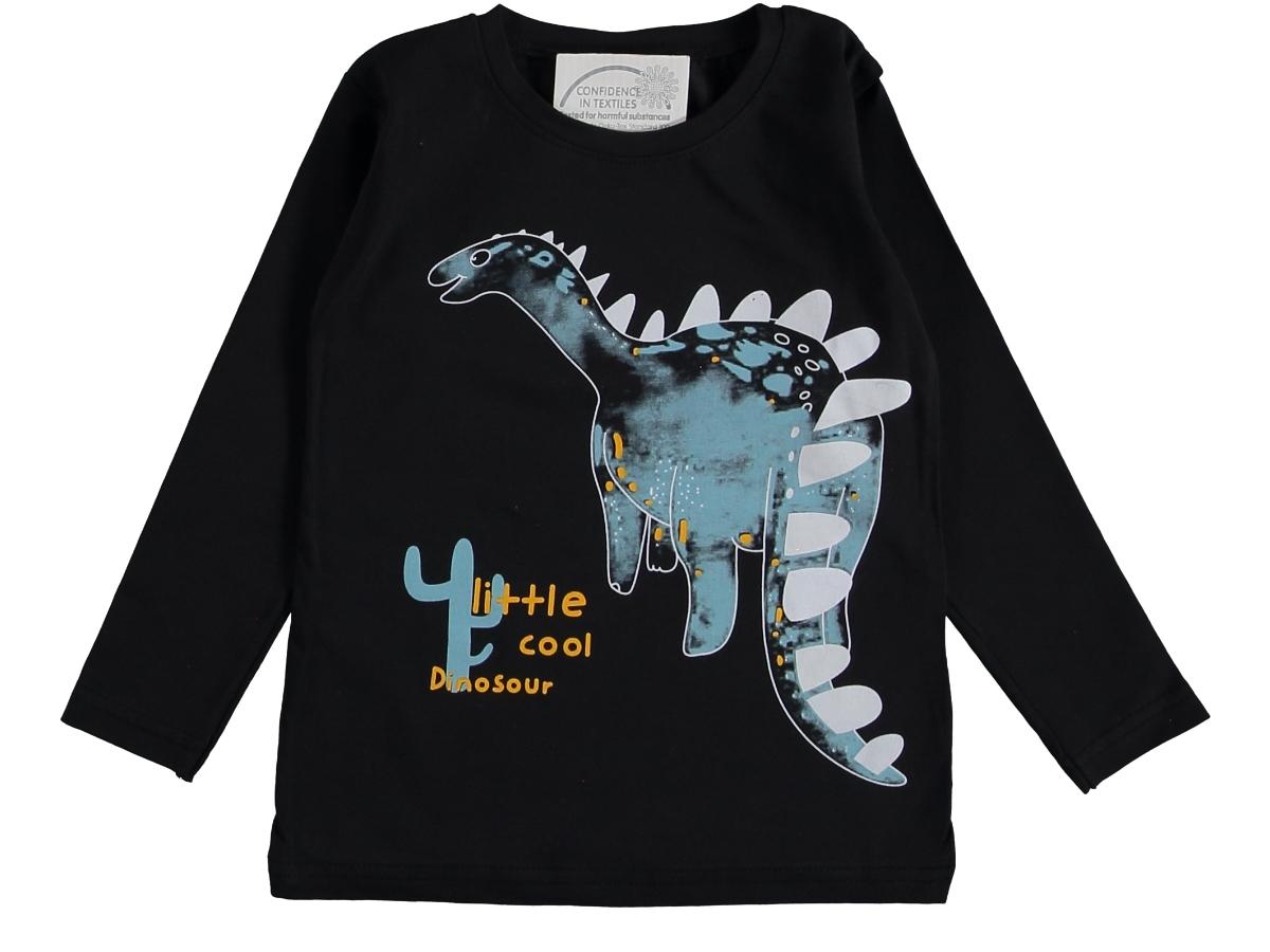 Кофта динозавр 2/5 лет тёмно-серый 317453